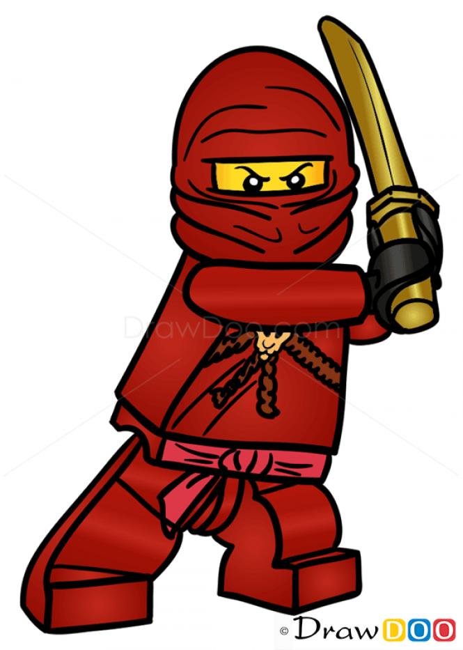 How to Draw Kai, Lego Ninjago.