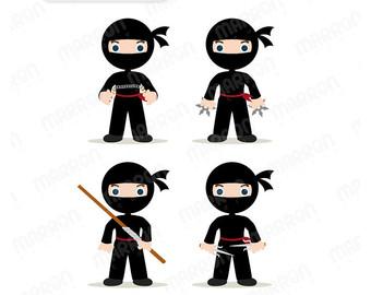 Cute Ninja Clipart.