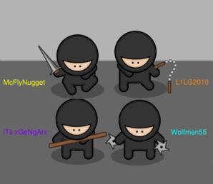 Pack Of Ninjas Clip Art at Clker.com.