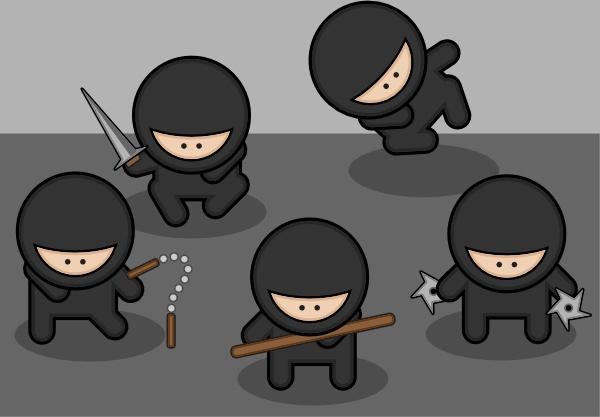 Ninjas clip art Free vector in Open office drawing svg ( .svg.