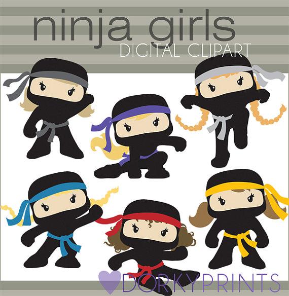 Girl Ninja Clipart.