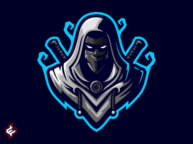 ROYALTY FREE ) Assassin / Ninja Mascot Logo Template by Erde.