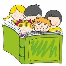 Resultado de imagen para dibujos de niños leyendo.