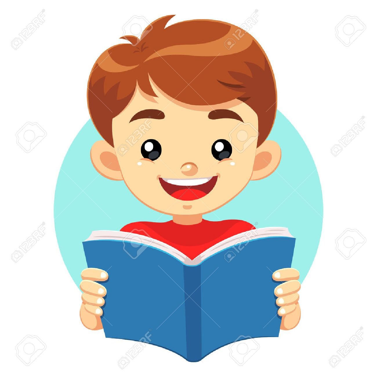 Reading Boy Clipart.