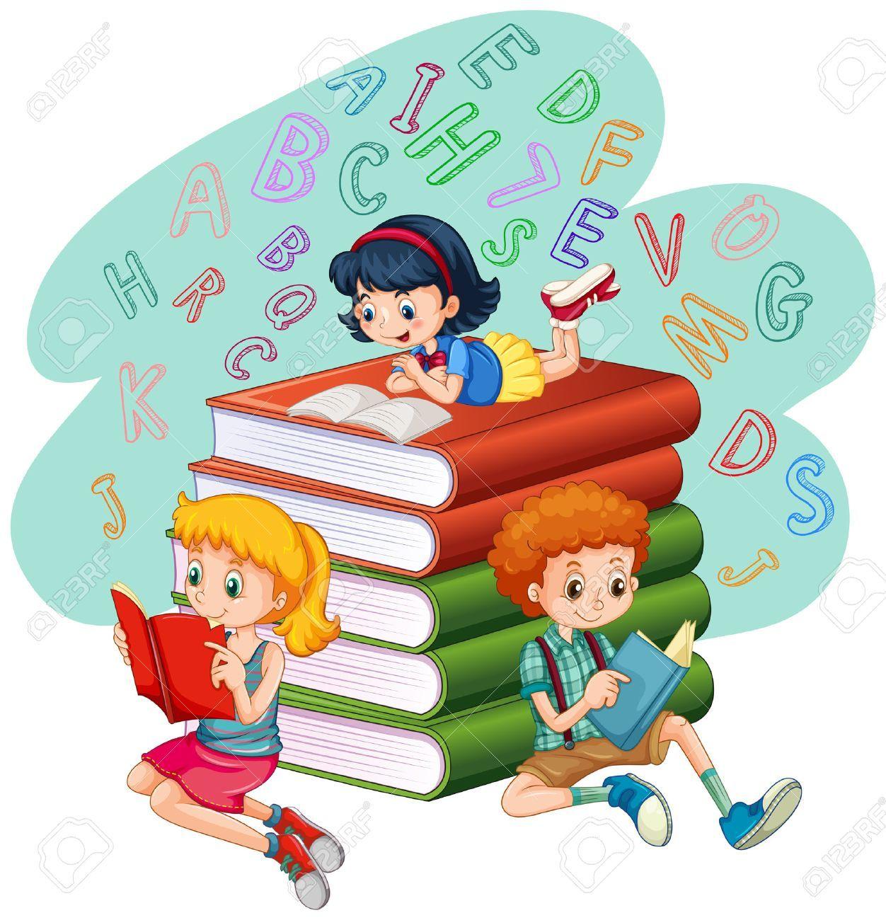 Resultado de imagen para niños leyendo.