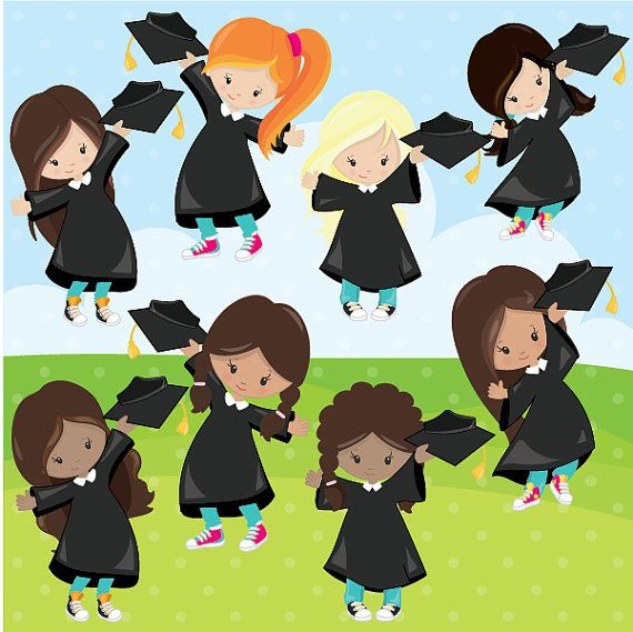 80% OFF Venta graduación clipart uso comercial graduación.