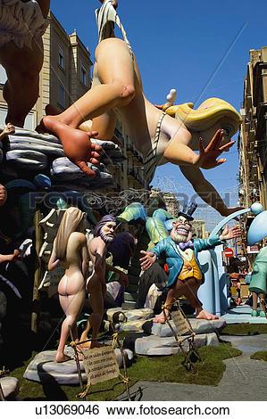 Stock Images of Spain, Comunidad valenciana, Valencia, Ninot.