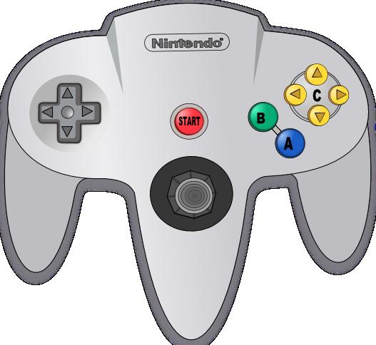 Nintendo 64 Controller Clipart.