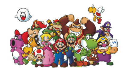 Download Nintendo Characters PNG File 420x238.