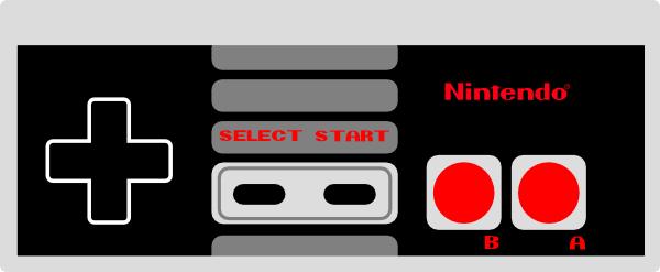 free vector Nintendo Controller clip art.