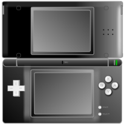 Black Nintendo DS Icon, PNG ClipArt Image.