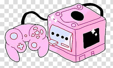 PINK AESTHETIC S, pink and white Nintendo gamecube.