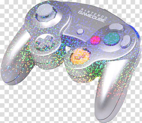 Prismatic Nintendo GameCube controller transparent.