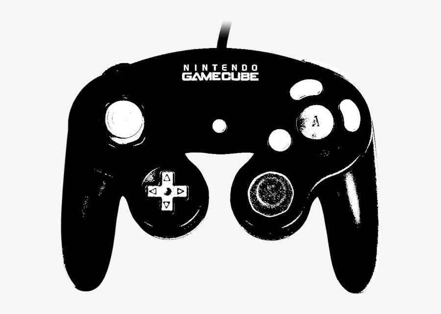 Gamecube Transparent Black And White.
