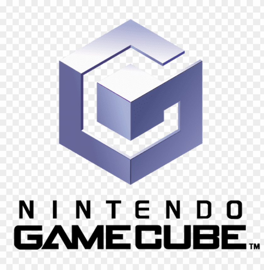 gamecube logo PNG image with transparent background.