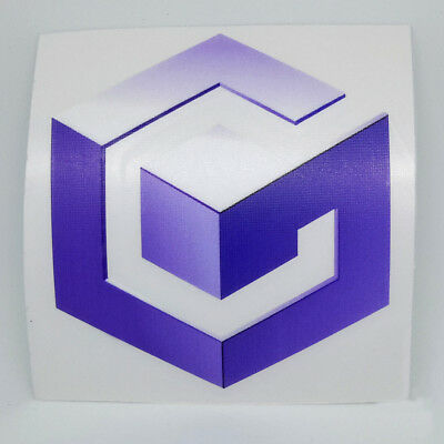 Nintendo GameCube Logo Sticker Vinyl Decal.