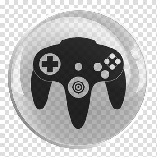 Nintendo Emulators Glass Icon , N, black Nintendo icon.
