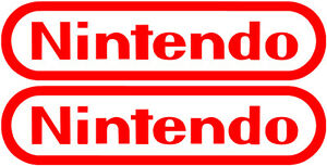 Details about Nintendo Logo Stickers set of 2 vinyl decals Mario zelda,  nintendo decal (2).