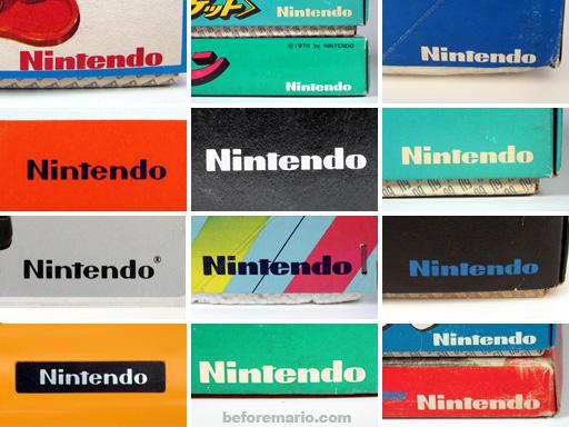 beforemario: Nintendo\'s logo through the years.