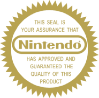 Nintendo Seal of Quality PNG.