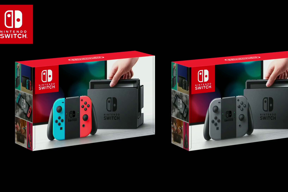 Nintendo Switch comes in two bundles, one with red and blue.