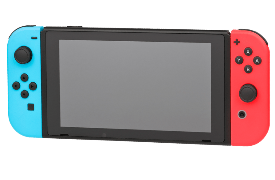 Nintendo Switch Handheld Game Console PNG Image.