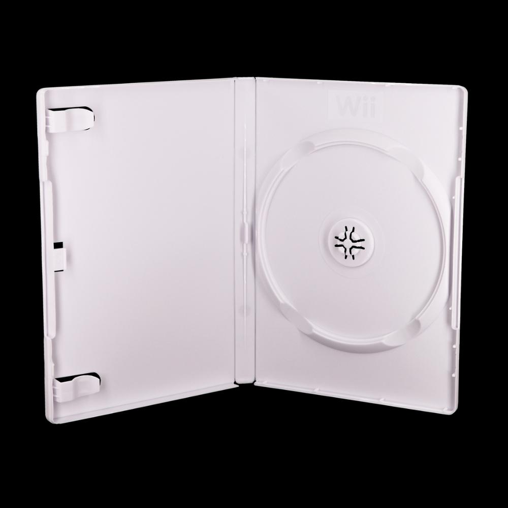 Weisheng Hard Plastic Game Box With Wii Logo Dvd Case Size White Color Wii  Games Case For Nintendo Wii Video Game.