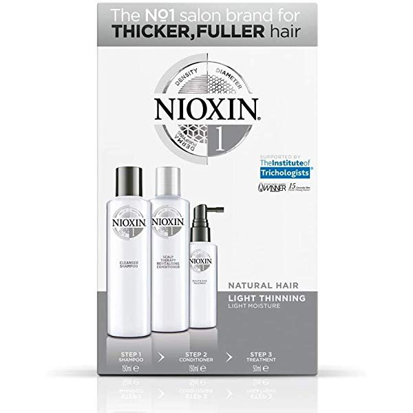 Nioxin Trial Kit System 1 Natural Hair Light Thinning.