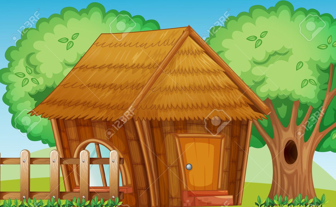 Clip Art Of A Nipa House Clipart - Clipart Suggest