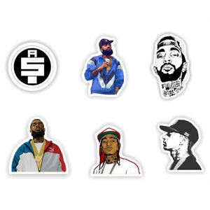 Details about 6PCS Nipsey Hussle Vinyl Stickers All Money In Logo Decals  for Phone Laptop Trav.
