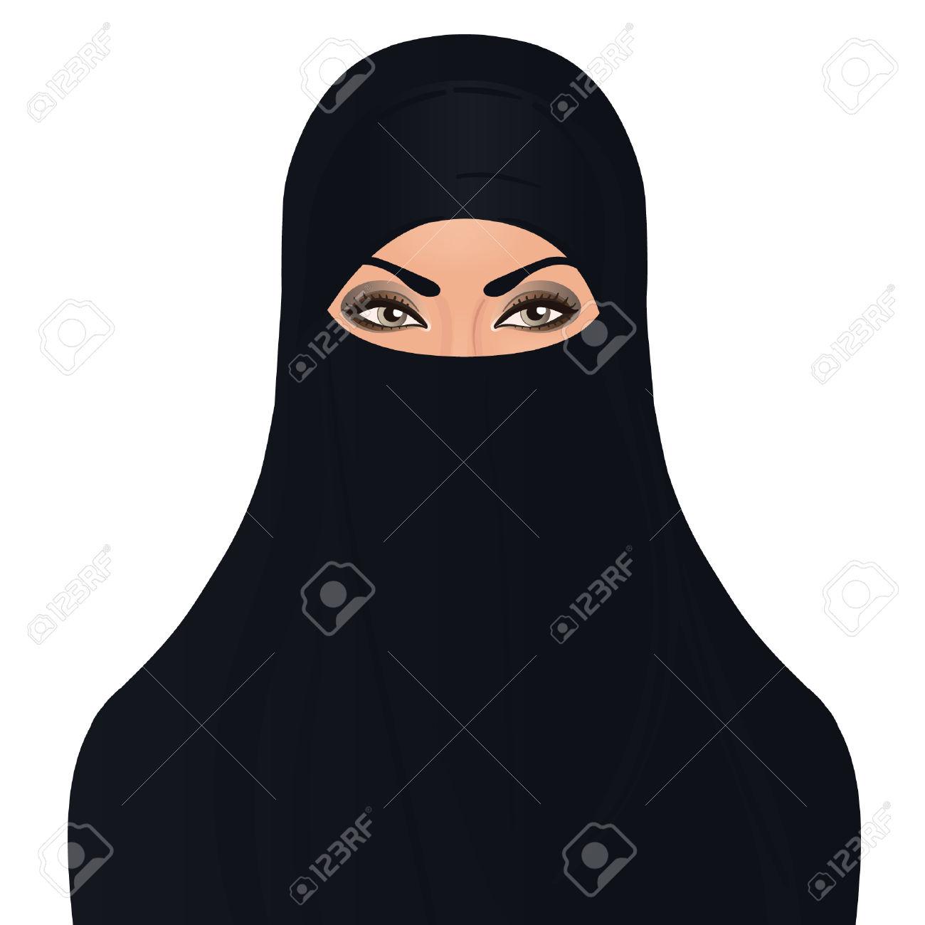 Niqab Clipart.