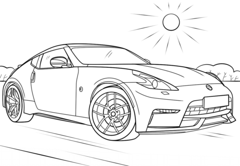 Nissan 370Z coloring page.