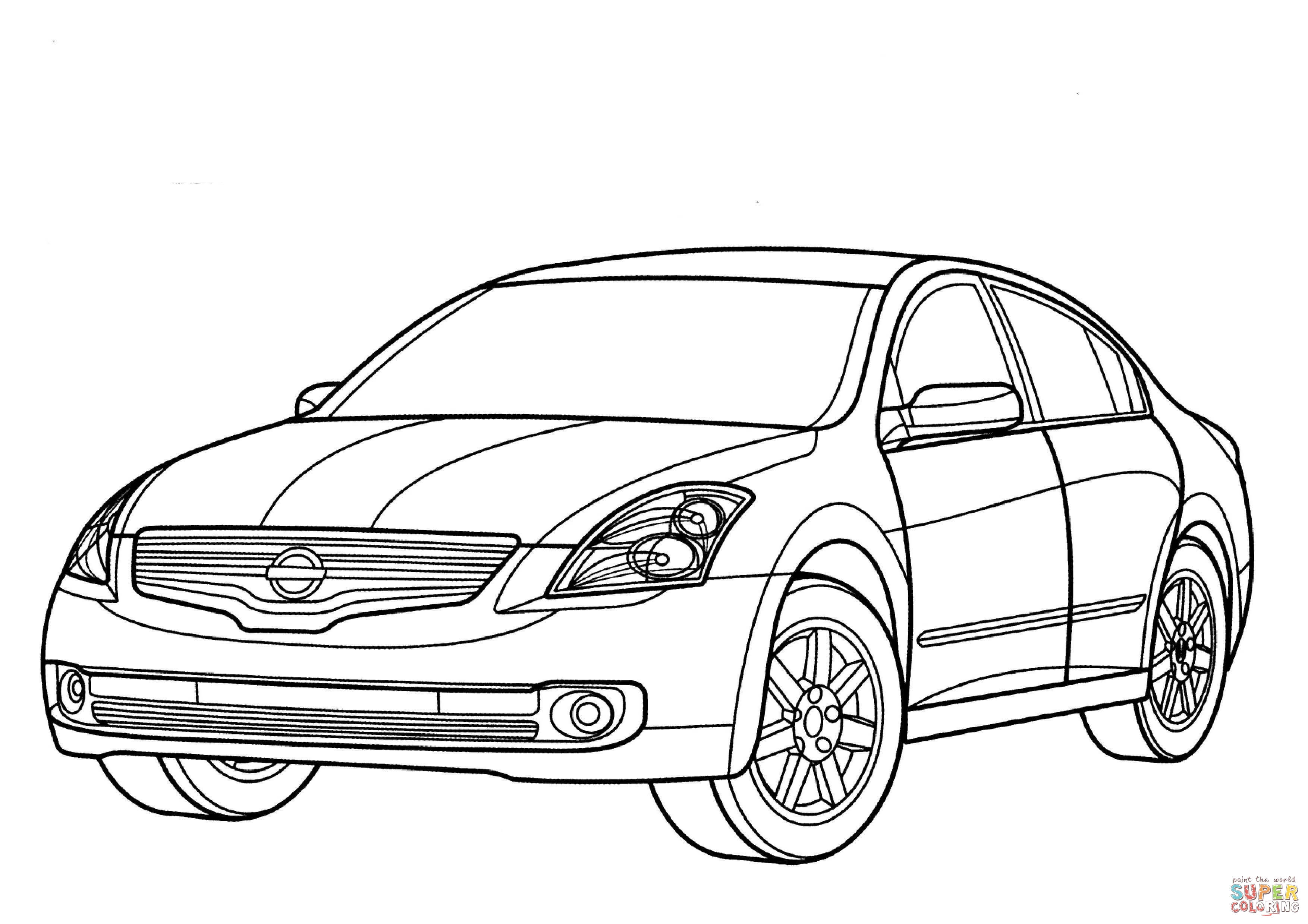 Nissan Car Coloring Pages.