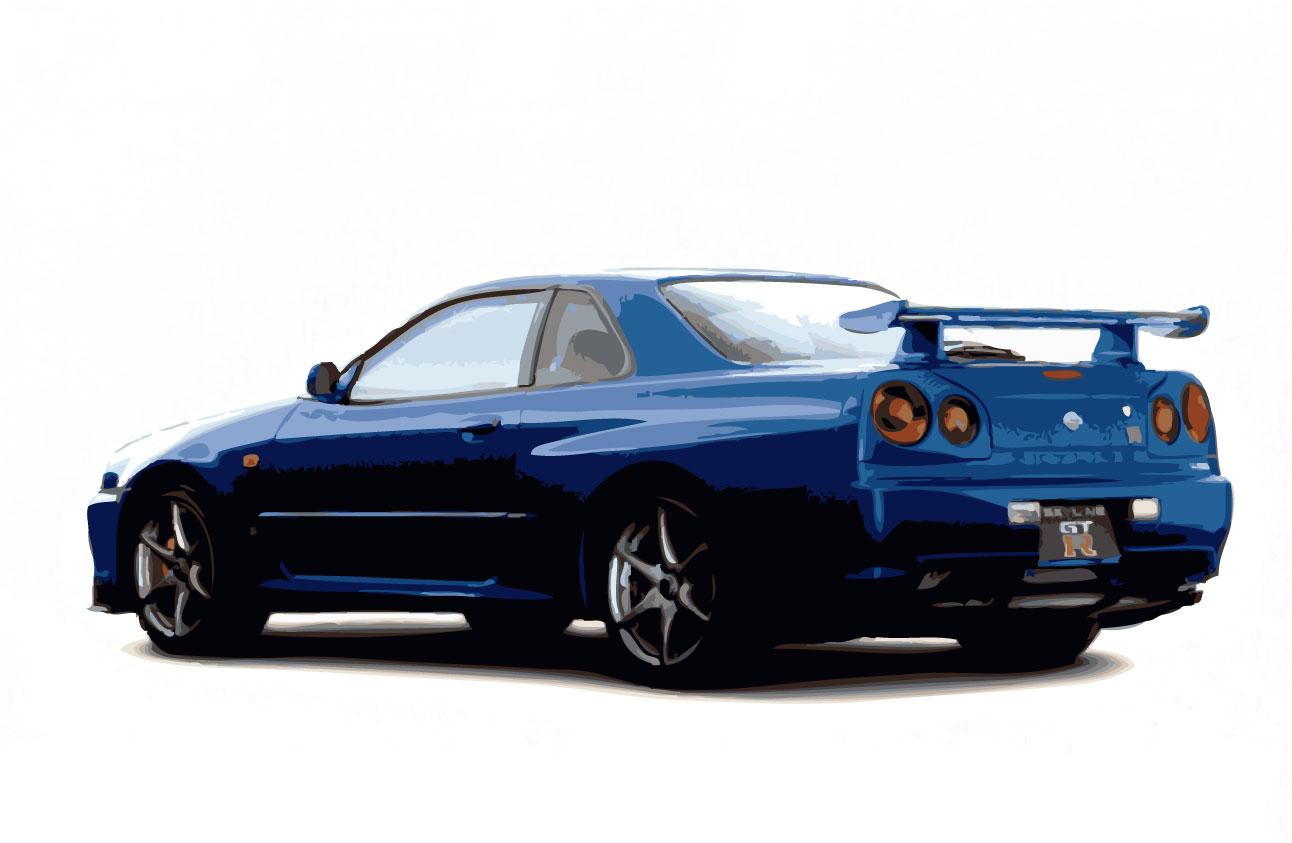 Nissan skyline clipart.