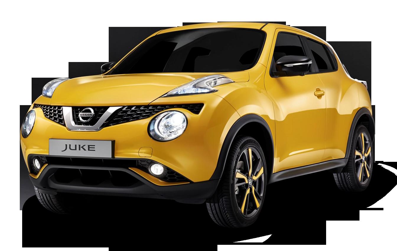 Nissan Juke Yellow Car PNG Image.