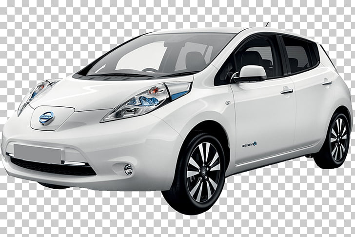 2018 Nissan LEAF Electric car, speed motion PNG clipart.
