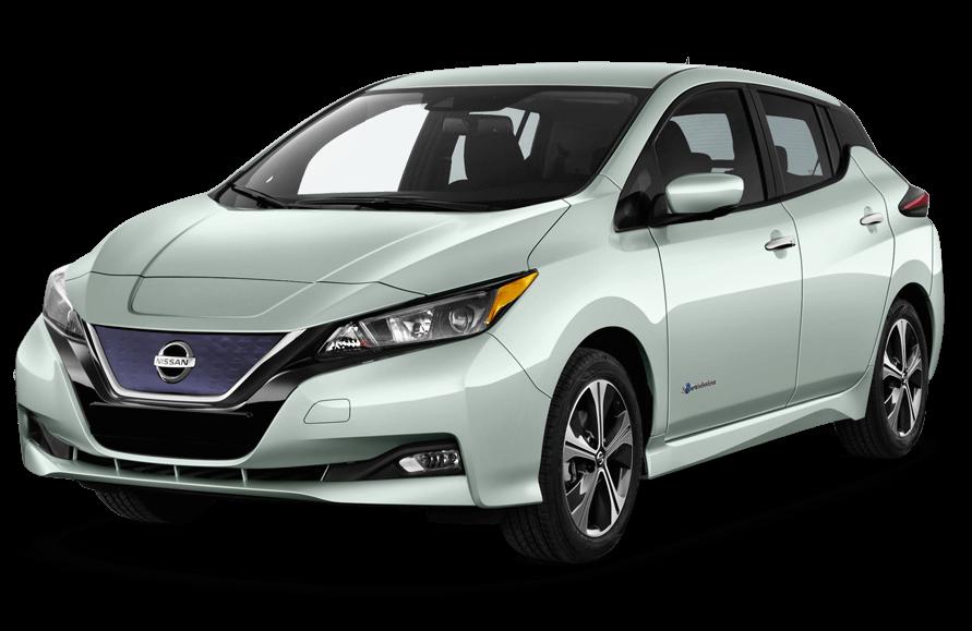 Nissan Leaf Electric Car.