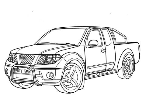 Nissan Navara coloring page.
