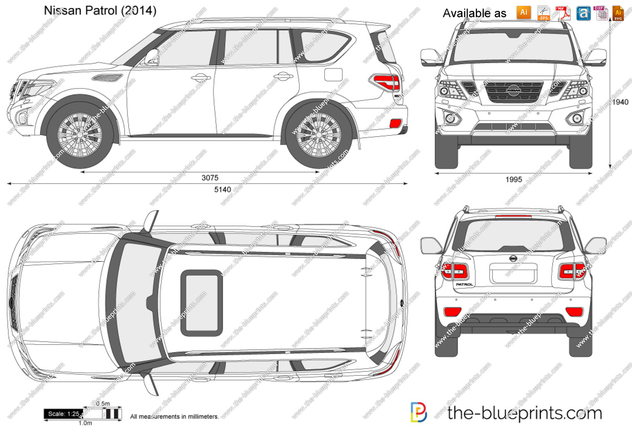 Nissan Patrol vector drawing.