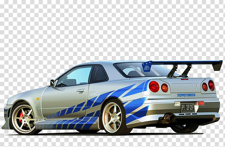Gray Nissan Skyline GT.