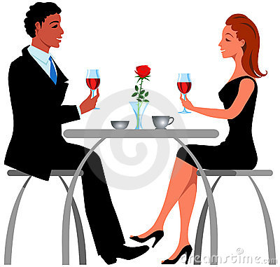 Romantisches Abendessen Stock Illustrationen, Vektors, & Klipart.