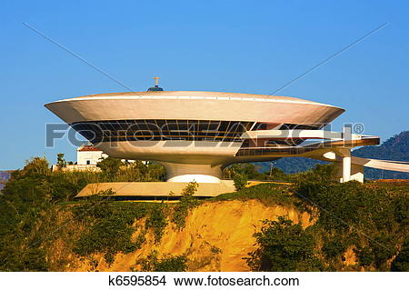 Stock Photo of Museum of contemporary art in niteroi k6595854.