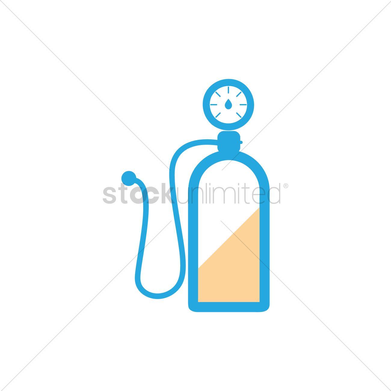 Nitrogen gas tank Vector Image.