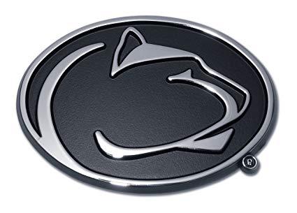 Penn State University (Nittany Lion) Emblem w/ Black.