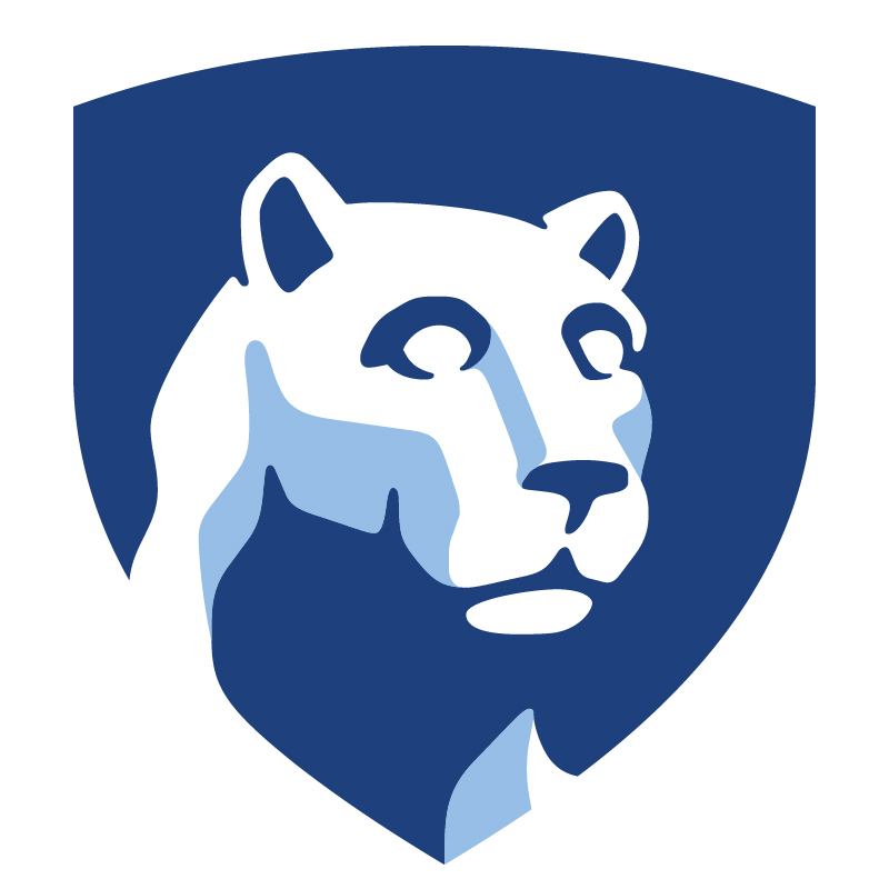 Penn State Nittany lion logo.