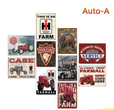 2019 Auto Metal Tin Signs Farm Tractor Route 66 Vintage Wall Art Retro TIN  SIGN Old Wall Metal Painting ART Bar Man Cave Decor From Crazyfairyland,.