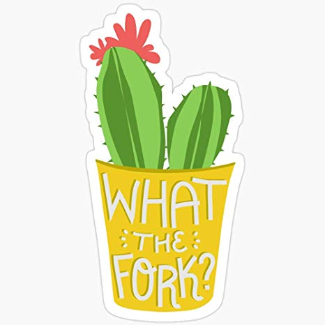 Amazon.com: Deangelo What The Fork? Cactus (The Good Place.