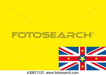 Clipart of 180 Degree Rotated Flag of Niue k30671131.