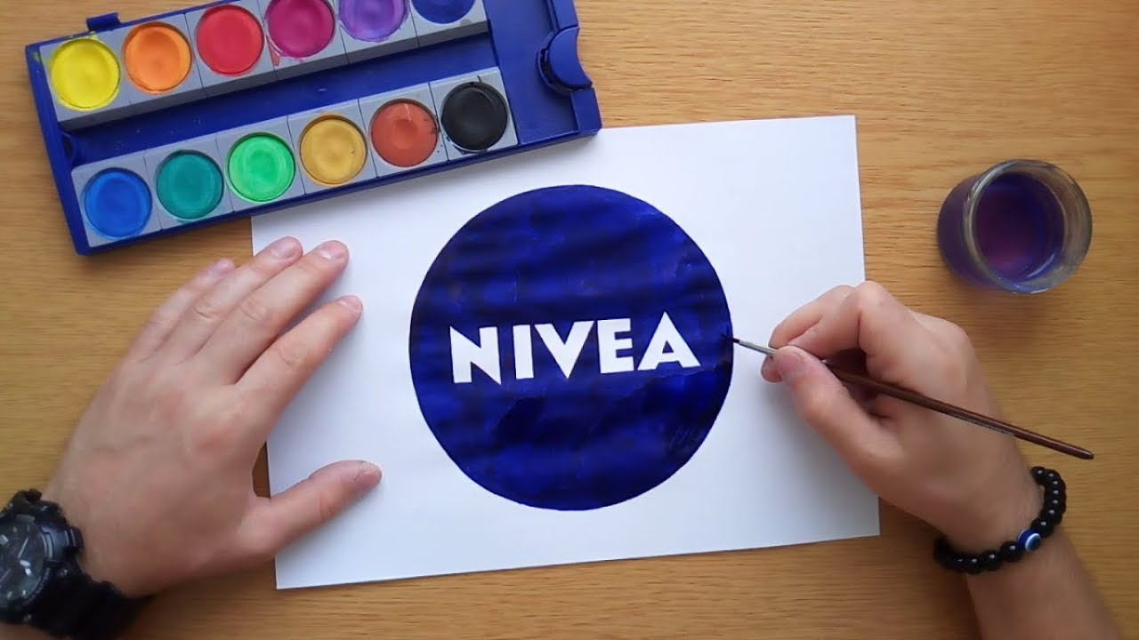 How to draw the Nivea logo.