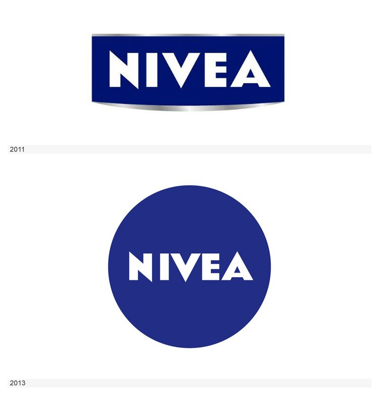 Past and Present Logos: Nivea.